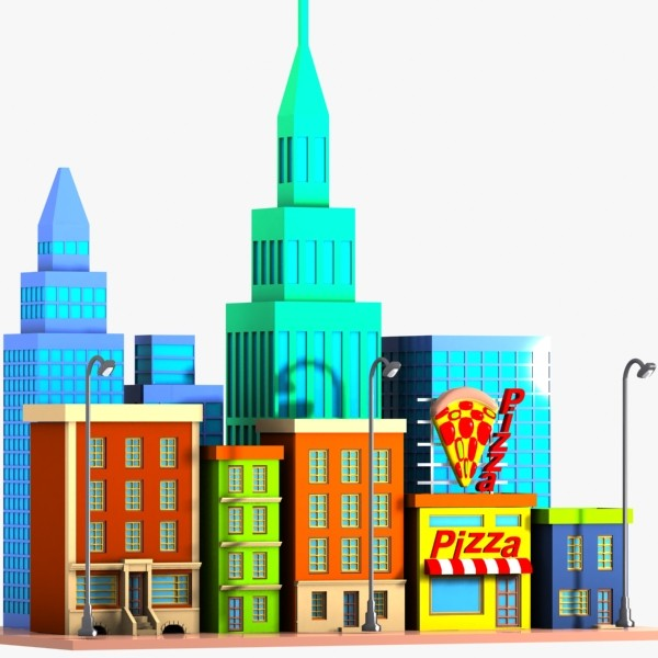 Cartoon City Clipart - Clipart Suggest