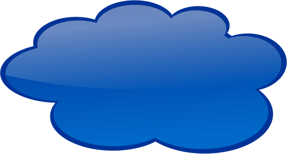Cloud Dark Blue   Http   Www Wpclipart Com Blanks Callouts Color
