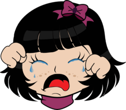 Crying Girl Manga Smiley Emoticon Clipart   Royalty Free Public Domain