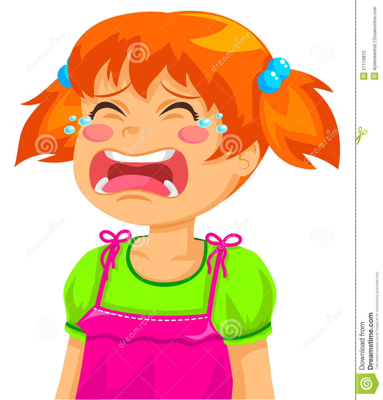 Crying Girl Clipart - Clipart Kid