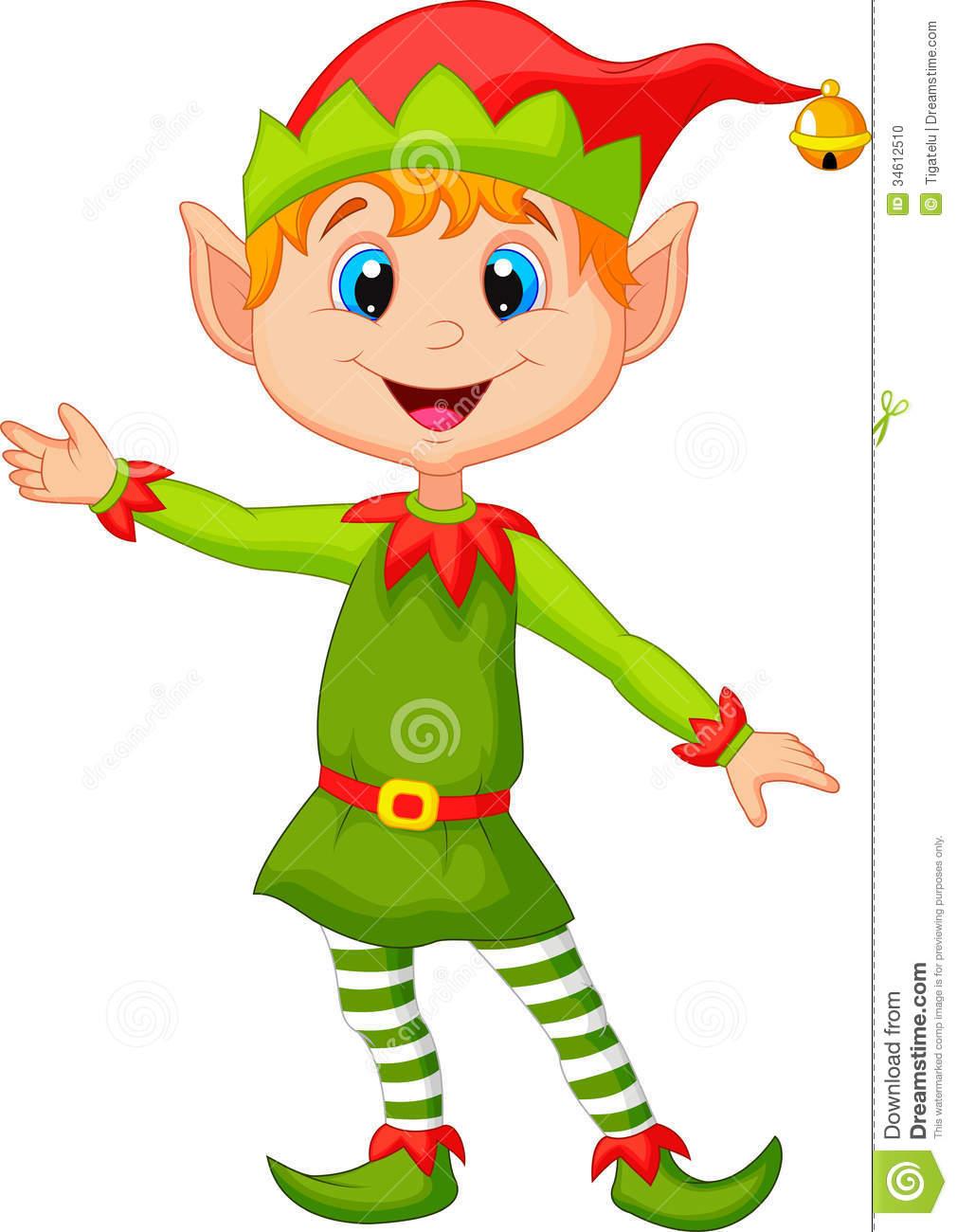 Clip Art Christmas Elf Clipart cartoon elf clipart kid cute christmas presenting stock photo image 34612510