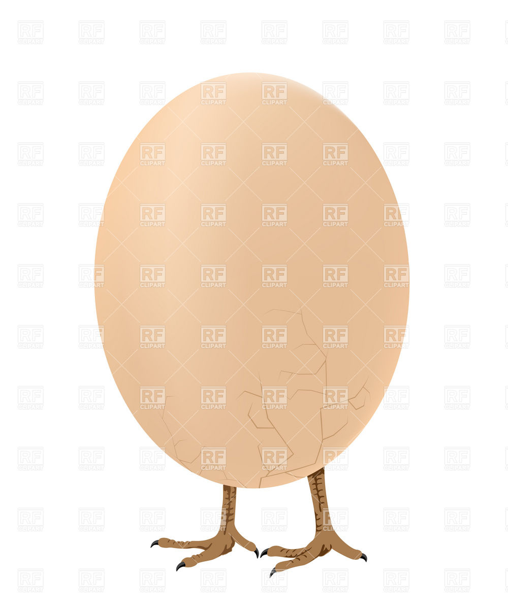 Egg Walking On Chicken Legs Download Royalty Free Vector Clipart  Eps