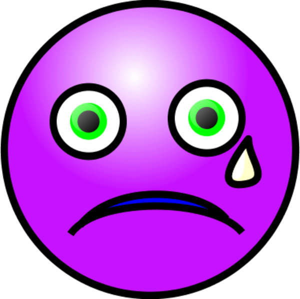 Emoticons Crying Face   Vector Clip Art