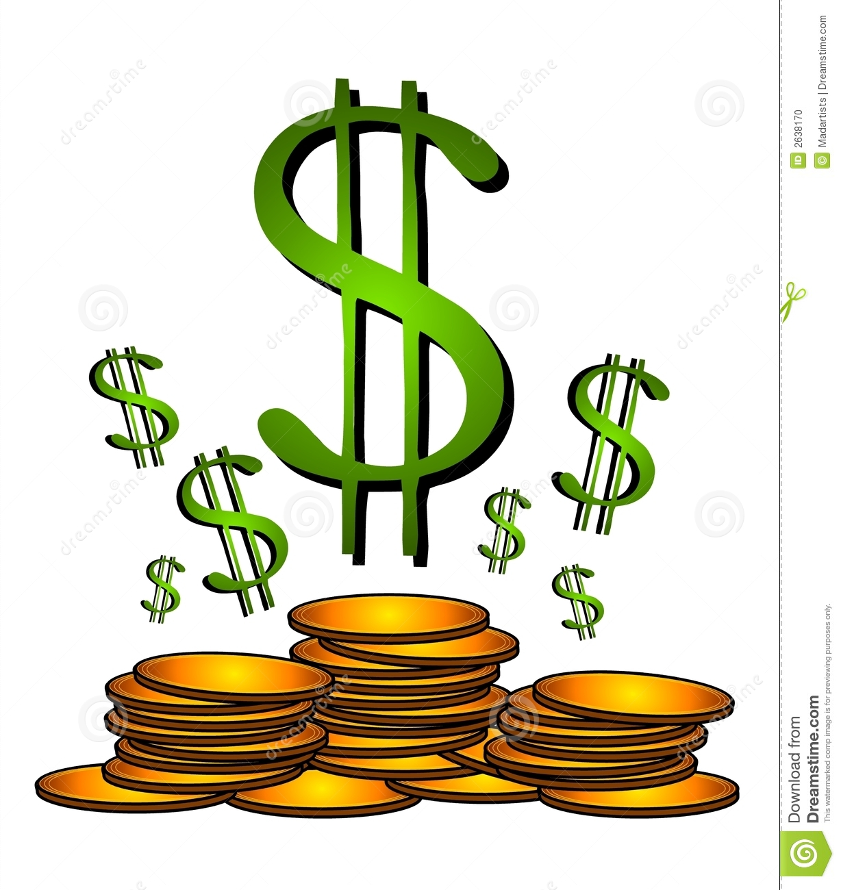 Green Dollar Sign Clipart   Clipart Panda   Free Clipart Images