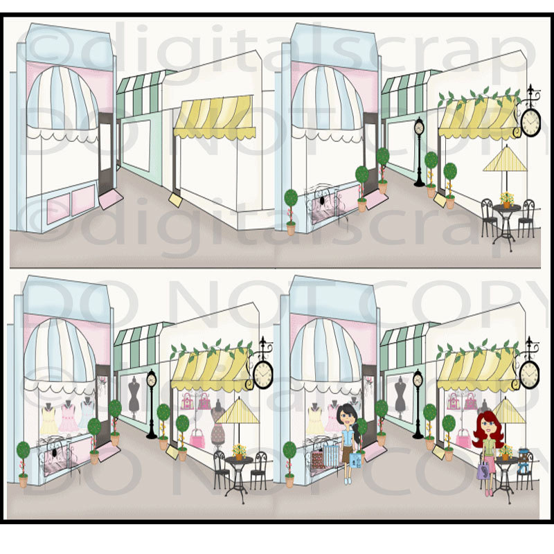 Main Street Clipart Buy 1 Get 1 Free Main Street Boutique Shops Store