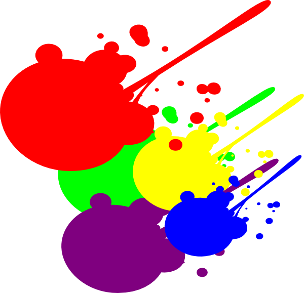 Paint Splatter Clip Art At Clker Com   Vector Clip Art Online Royalty