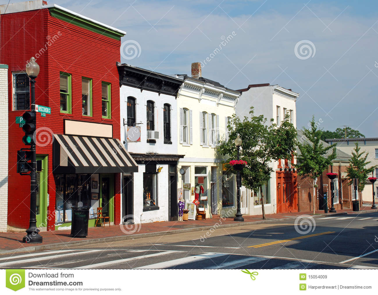 Small Town Main Street 2 Royalty Free Stock Images   Image  15054009