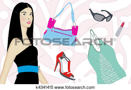 Stock Illustration Of Fashionista K4341415   Search Clipart Drawings
