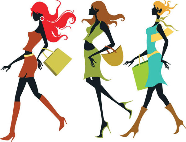 There Is 19 Clip Art Of Fashionista Shopping   Free Cliparts All Used