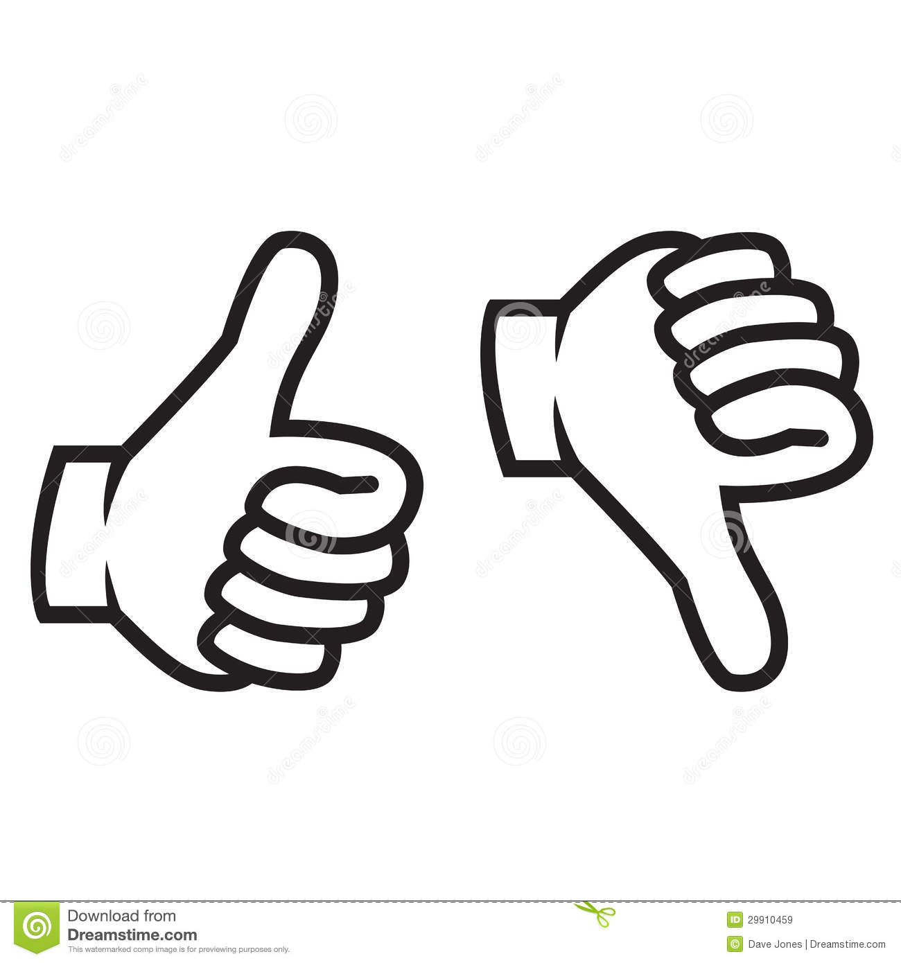 Thumbs Up Clipart Thumbs Up Down Gesture Clip Art Silhouette Black