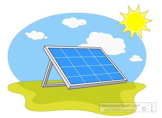 Alternative Energy Source Solar Panels 01   Classroom Clipart