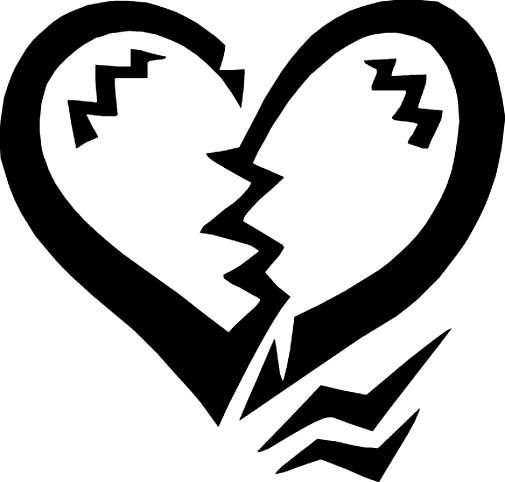Broken Heart Clipart Black And White   Clipart Panda   Free Clipart