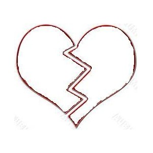 Black Broken Heart Clipart - Clipart Kid