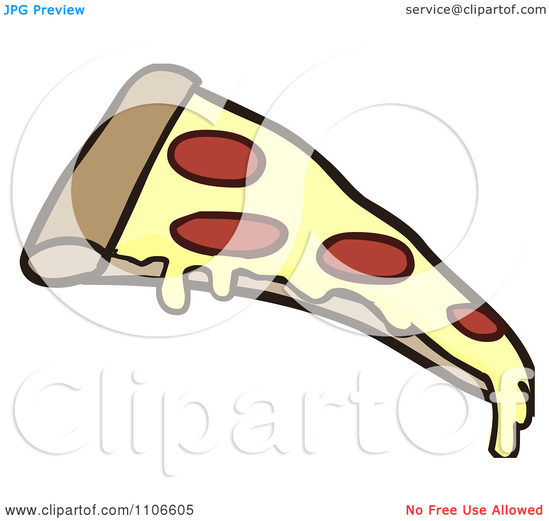 Clipart Pepperoni Pizza Slice   Royalty Free Vector Illustration By