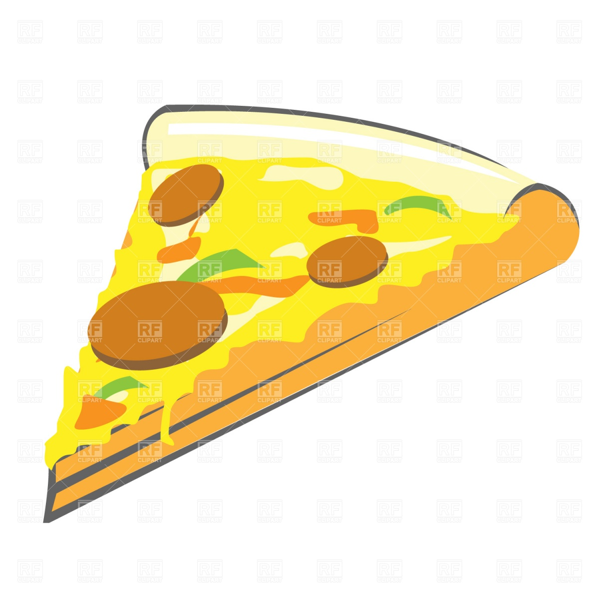 Pizza Slice Download Royalty Free Vector Clipart  Eps