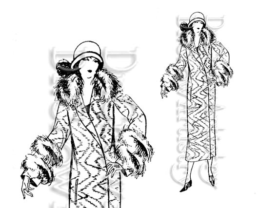Roaring Twenties Flappers Clipart Art Deco Lady   From The Roaring