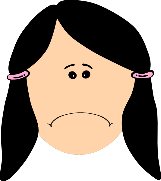 Clip Art Sad Clip Art cartoon sad face clipart kid girl stick figure panda free images