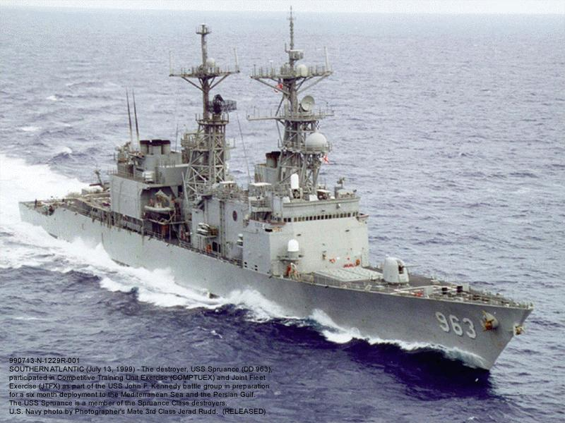 Sep  20 1975   Uss Spruance  Dd 963  Was Commissioned At Pascagoula