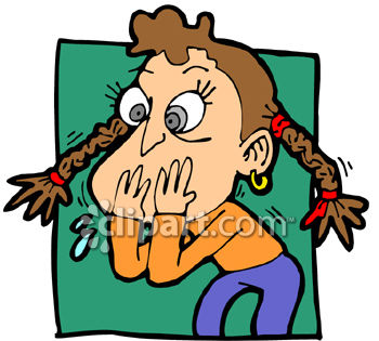 Sick Girl Who Looks Like Shes Going To Vomit Clip Art Clipart Image