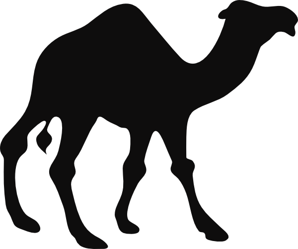 Walking Camel Clip Art Vector