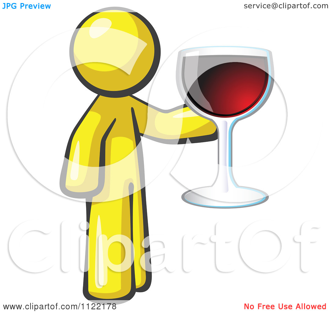 Wine Tasting And Giving A Toast   Royalty Free Vector Clipart By Leo