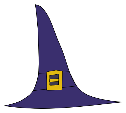 Witch Hat Clipart - Clipart Kid