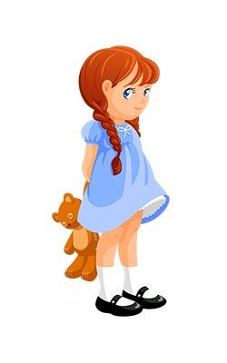 Clip Art Little Girl Clipart - Clipart Kid
