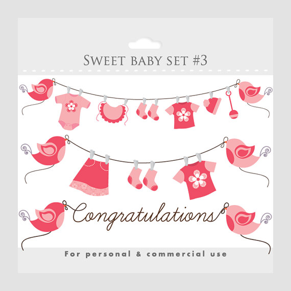 Baby Girl Clipart Baby Shower Clip Art Pink Pregnancy Clip Art