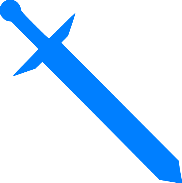 Blue Sword Clip Art At Clker Com   Vector Clip Art Online Royalty