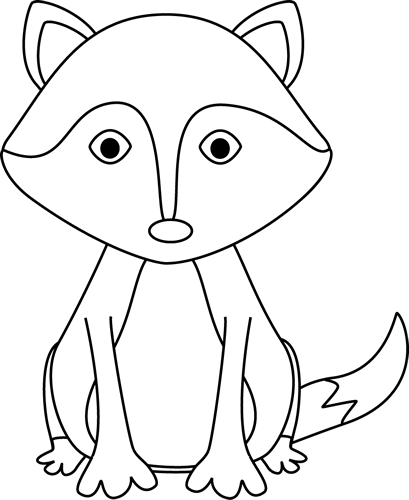 Fox Clipart Black And White