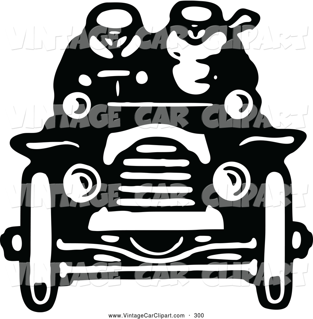 Larger Preview  Clipart Of A Black And White Retro Vintage Black And