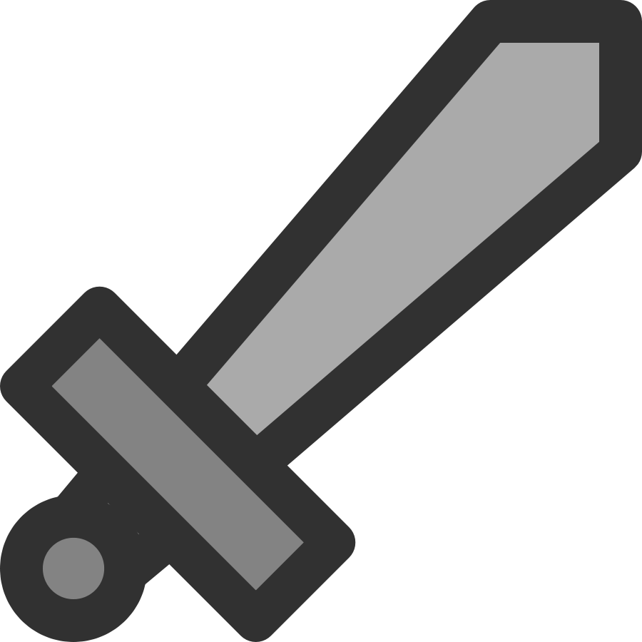 Metal Sword Icon Clipart Large Size
