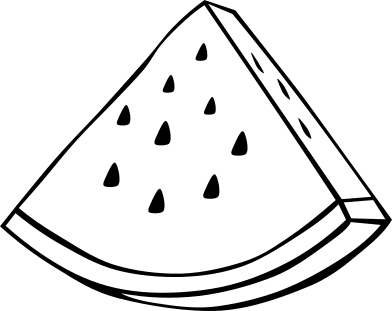 Outline    Food Fruit Melon Watermelon Watermelon Wedge Outline Png