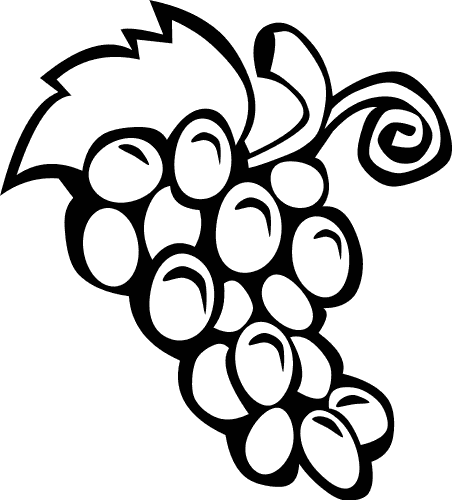 Outline   Http   Www Wpclipart Com Food Fruit Grapes Grapes Outline