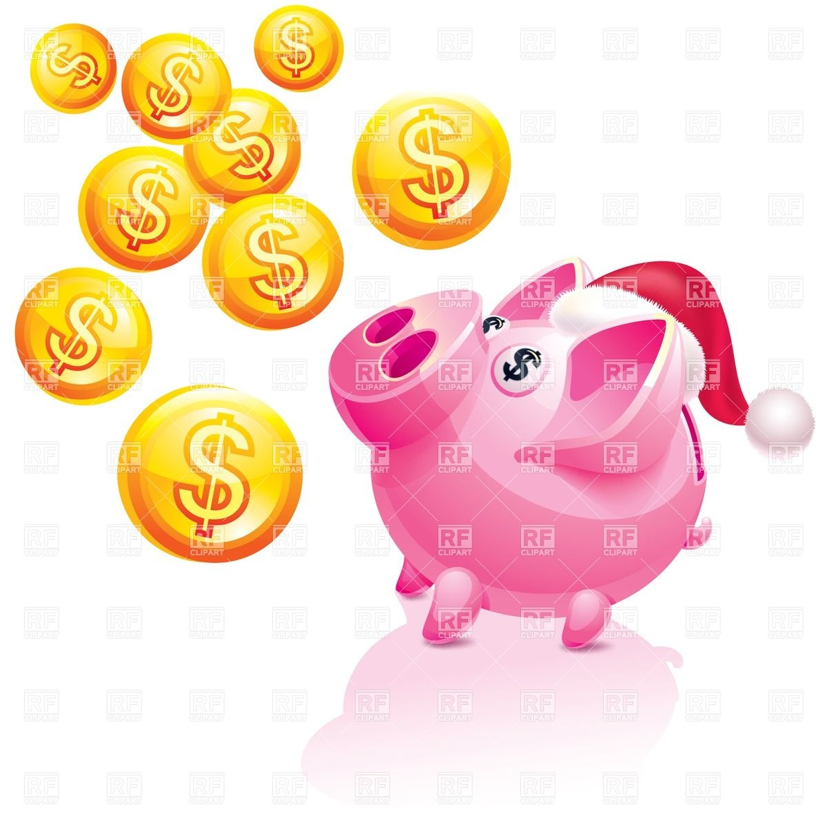 Piggy Bank And Coins Clipart Images   Pictures   Becuo