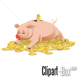 Related Piggy Bank On Gold Coins Cliparts
