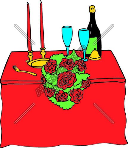 Romanticdinner1 Clipart And Vectorart  Holidays Graphics   Valentine S