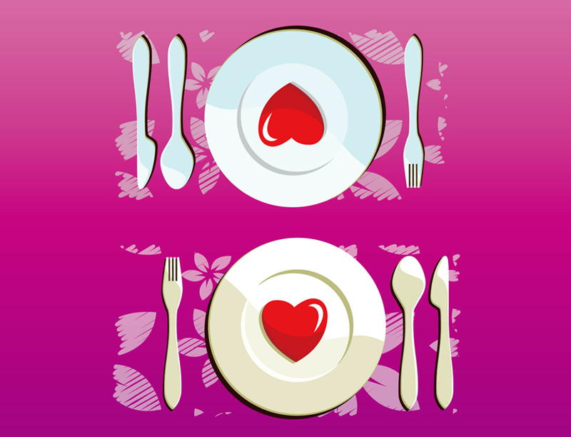 Valentine S Day Dinner Vector By Dapino Colada Nl