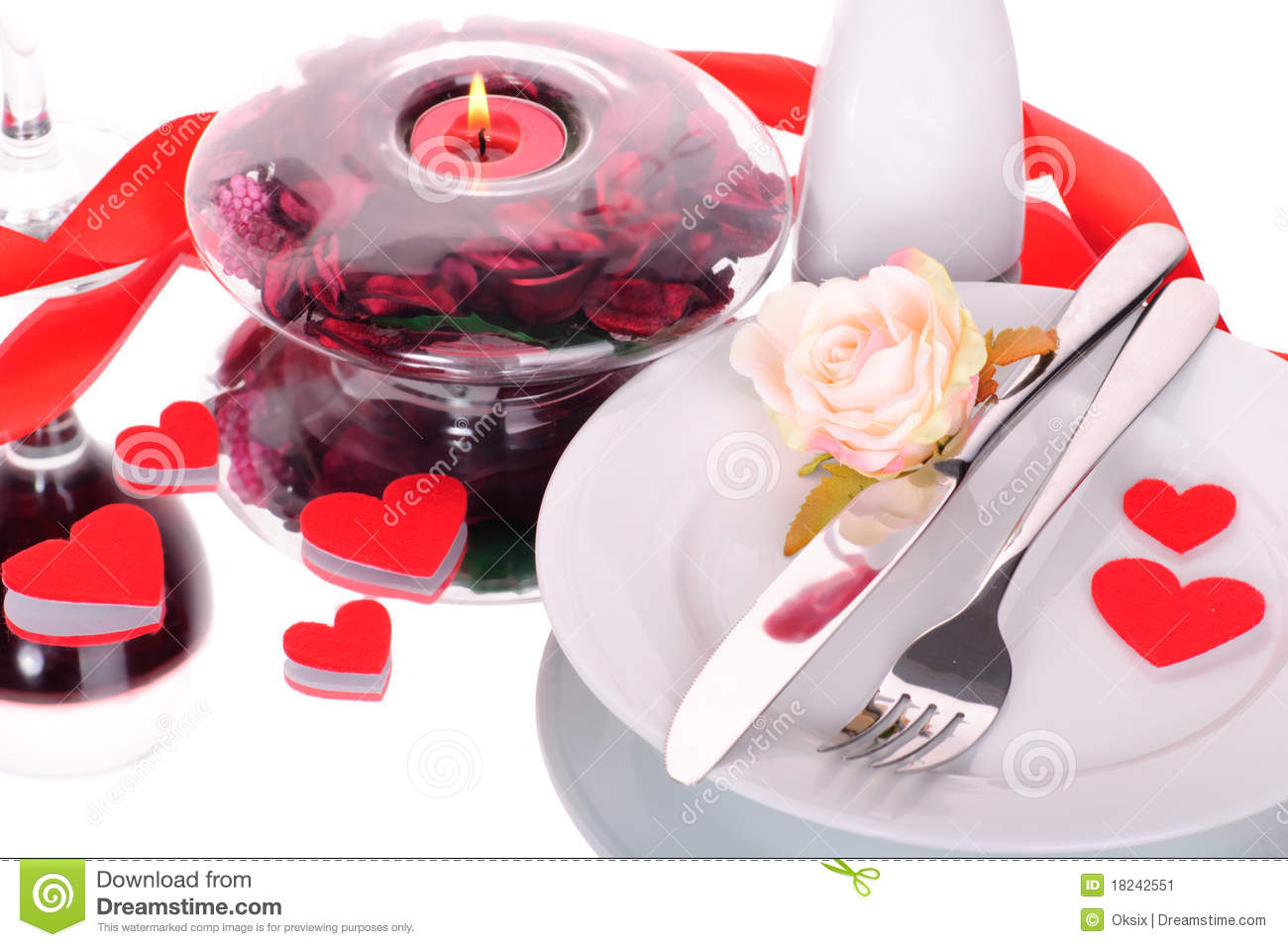 Valentine S Dinner Waitnig For Couple Present And Candle Included