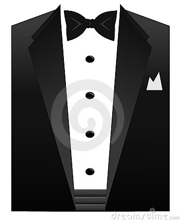An Illustration Of A Black Bow Tie White Shirt And Tuxedo Collar