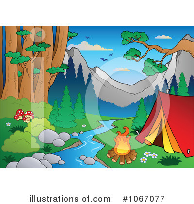 Camping In The Woods Clipart More Clip Art Illustrations Of