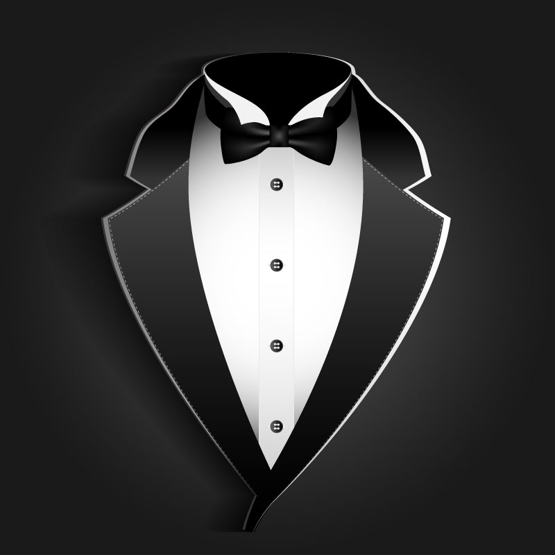 Clipart Tuxedo   Royalty Free Vector Design