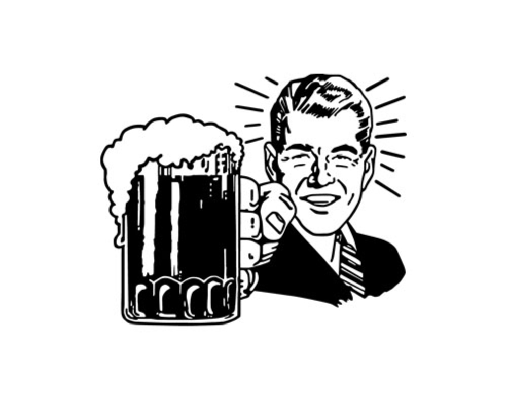 Drinking Beer Clip Art Bigstock Retro Beer Guy Clip Art 17343080 Jpg