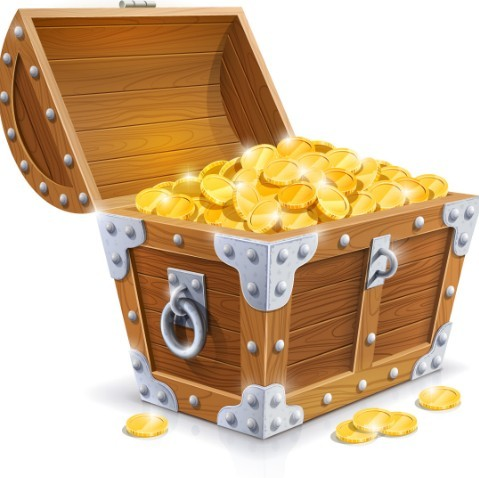 Free Vector Pirate Treasure Chest Full Of Gold 05   Titanui