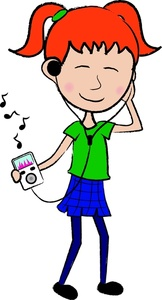 Girl Listening To Music Clipart   Clipart Panda   Free Clipart Images