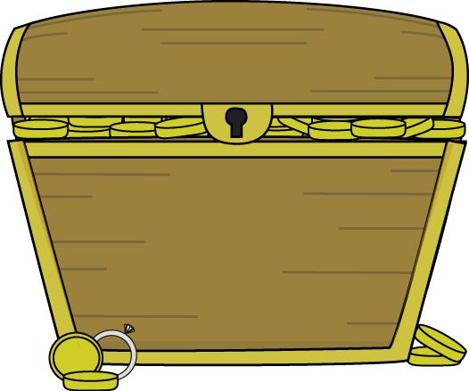 Gold Filled Treasure Chest Clip Art   Gold Filled Treasure Chest Image