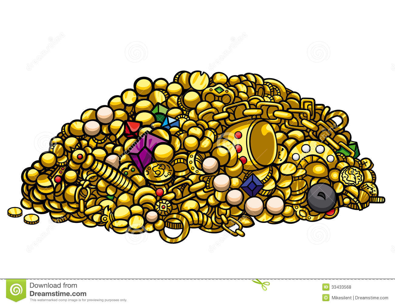 Gold Treasure Royalty Free Stock Photos   Image  33433568