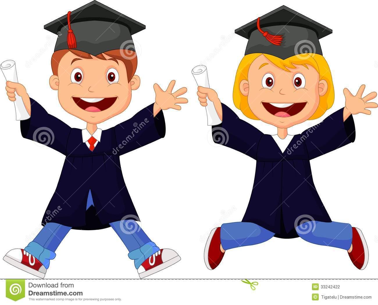 Graduation Cartoon Clipart - Clipart Kid