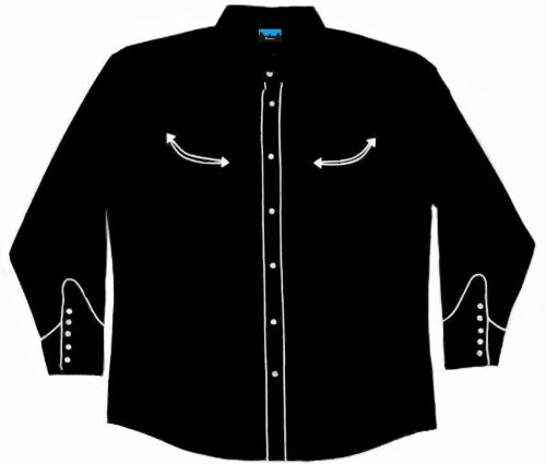 Las Vegas Casino Black Dress Western Shirt Benny S
