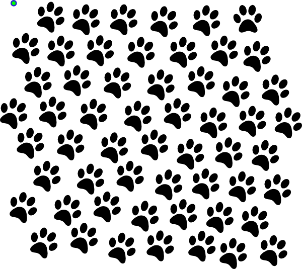Paw Print Border For Microsoft Word Black Paw Prints Clip